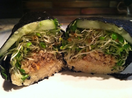 Nori Rolls with Cashew Cream and Sprouts